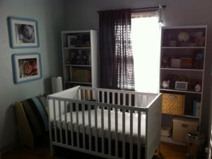 The thing I probably miss most about our first house is our first baby's room.