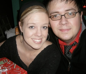 Christmas 2006, just a few weeks before our wedding.