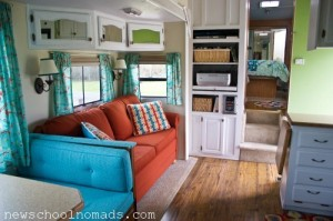 One of my favorite RV remodels I found in my research. http://www.newschoolnomads.com